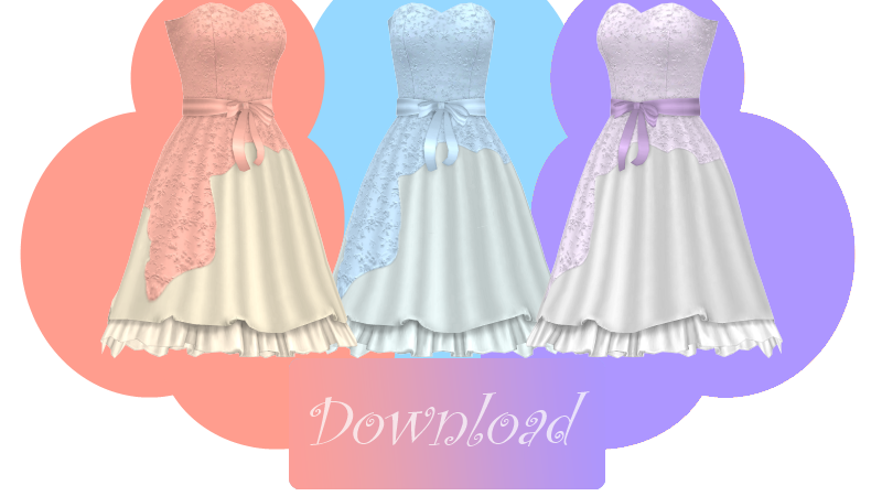 [MMD] CHERRY BLOSSOM DRESS [+DL] by Sims3Ripper
