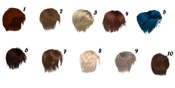 [MMD] HUGE MALE HAIR PACK [+DL] by Sims3Ripper