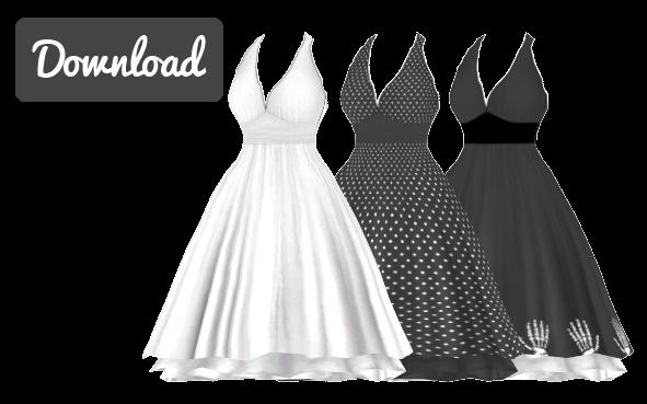 [MMD] MARILYN MONROE DRESS [+DL] by Sims3Ripper