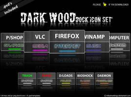 Dark Wood - Dock icon set by KillboxGraphics