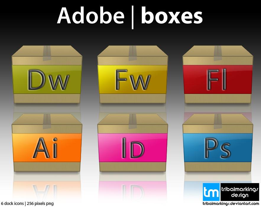 Adobe box icons by tRiBaLmArKiNgS