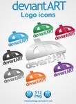 deviantART logo icons
