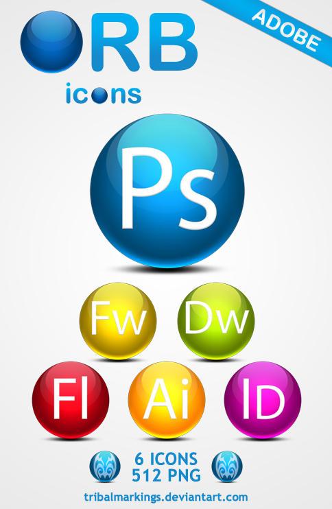 ORB icons Adobe by KillboxGraphics
