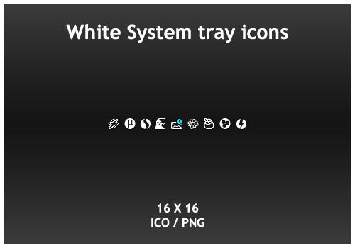 White System Tray icons