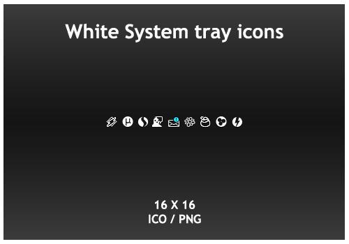White System Tray icons by KillboxGraphics