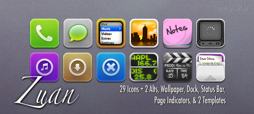 Zuan iPhone Theme by secretlygold247