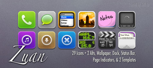 Zuan iPhone Theme