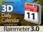 3D Daily Calendar for Rainmeter 3