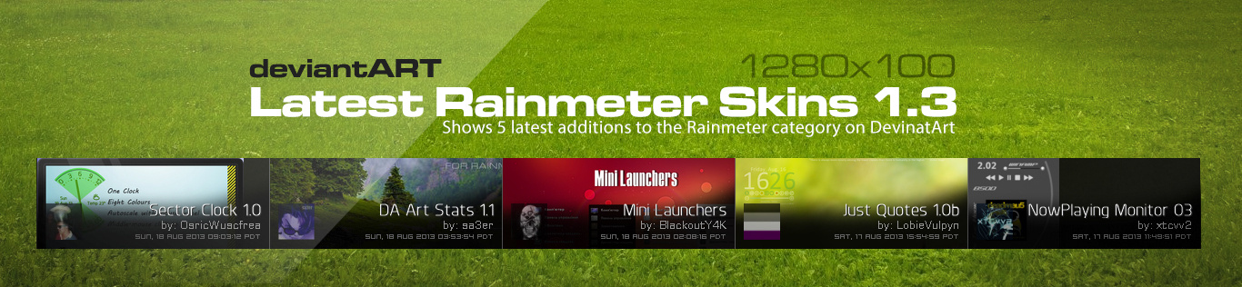 DA Latest Rainmeter Skins 1.3.1 by sa3er