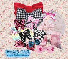 12 bows pngs by sodust