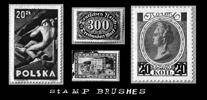 Stamp brushes