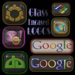 Glass Encased Logos psd