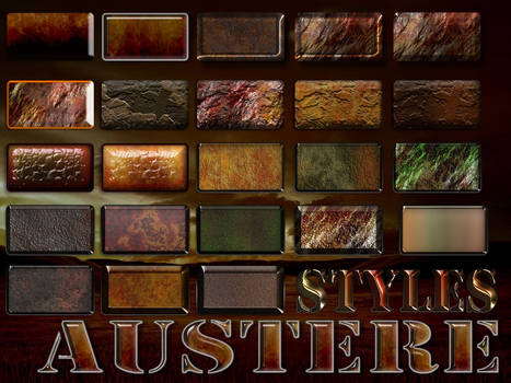 Austere Photoshop Layer Styles