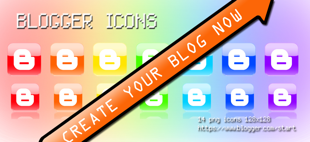 Blogger Icons - RAINBOW-