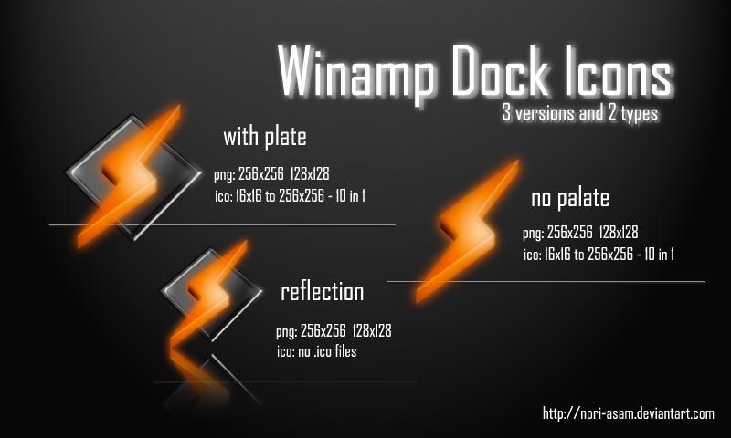 Winamp Dock Icons by nori-asam
