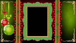 Christmas grunge frame