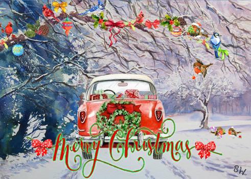 Colorful Christmas Drive