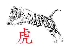 Tiger vector logo/tattoo design