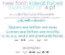 Kawaii Faces Font