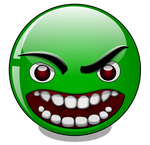Very very angry green smiley (Incredible Hulk)