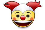 Smiley Clown Red/White (svg)