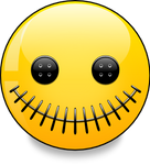 Stitched Smiley (vector)