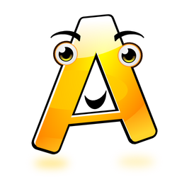 Smiley Alphabet - A (updated)