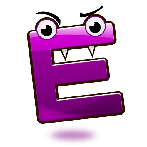 Smiley Alphabet - E