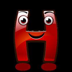 Smiley Alphabet - H (happy)