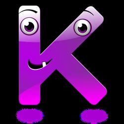 Smiley Alphabet - K