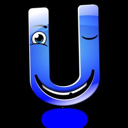 Smiley Alphabet - U