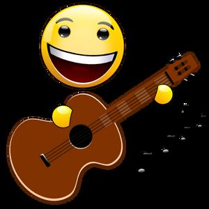 Music Smiley - Guitar