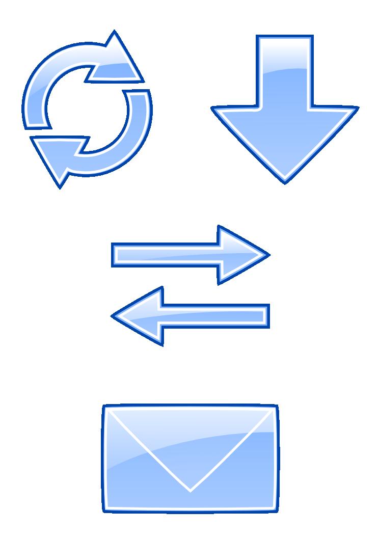 Email Icons Set Public Domain By Mondspeer