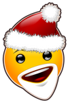 Little Santa Smiley ... only polygon tool