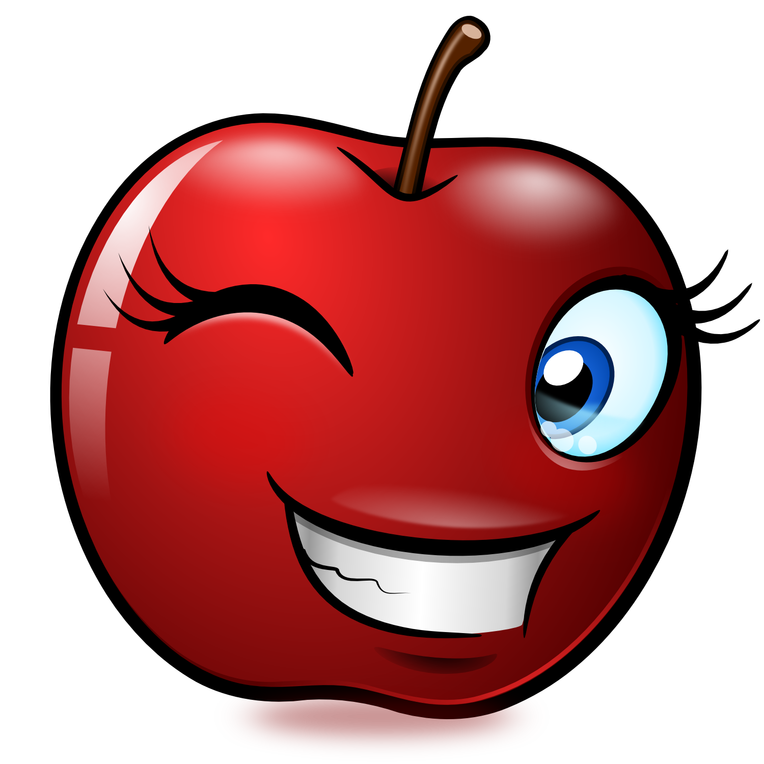 free smiling apple clipart - photo #12