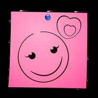 Post-It Smiley: Love by mondspeer