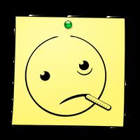 Post-it Smiley: Ill by mondspeer