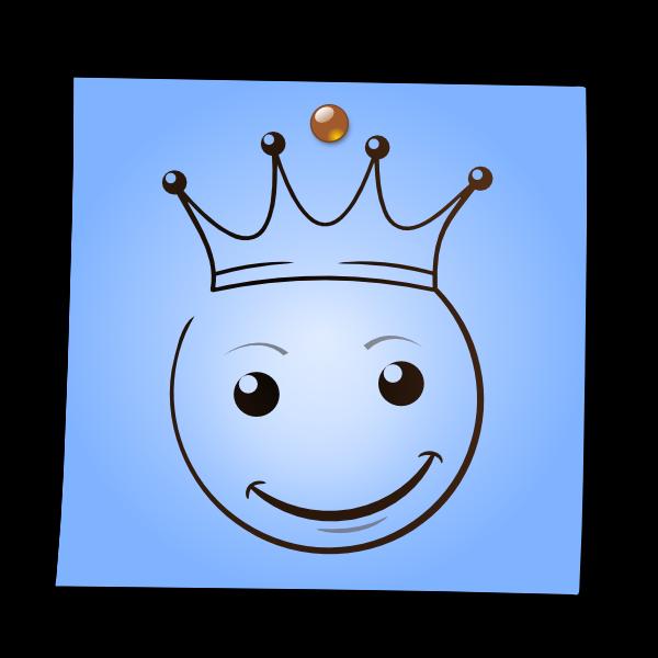 Post-It Smiley: The King by mondspeer on DeviantArt