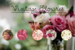 + Patterns Vintage Flowers S E T #1