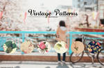 + Patterns Vintage Flowers  S E T #2