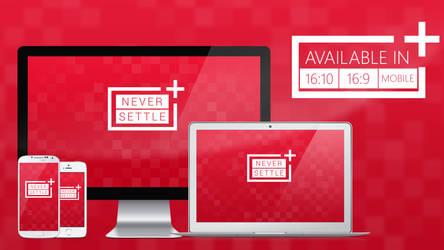 OnePlus NEVER SETTLE - Wallpaper HD by MilesAndryPrower