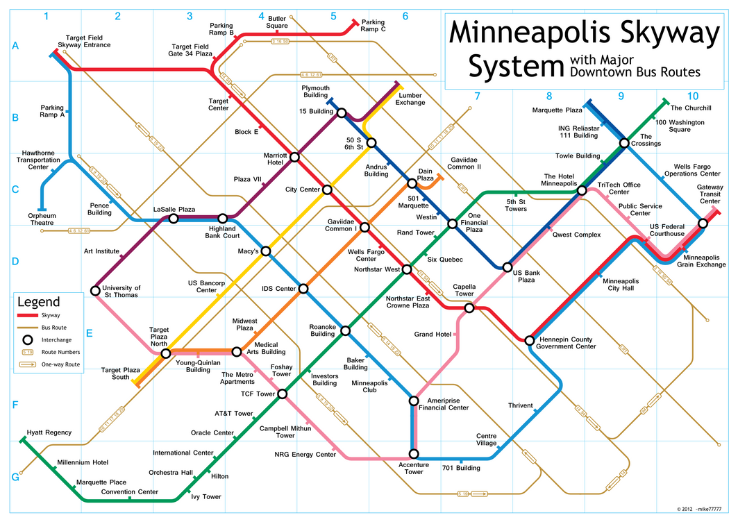 Adaptable image regarding minneapolis skyway map printable