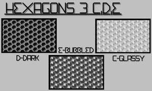 Hexagons 3 C,D,E
