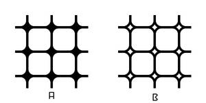 Rounded Squares - Grid Pattern 1 A,B