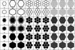 Hexagons Brush Set