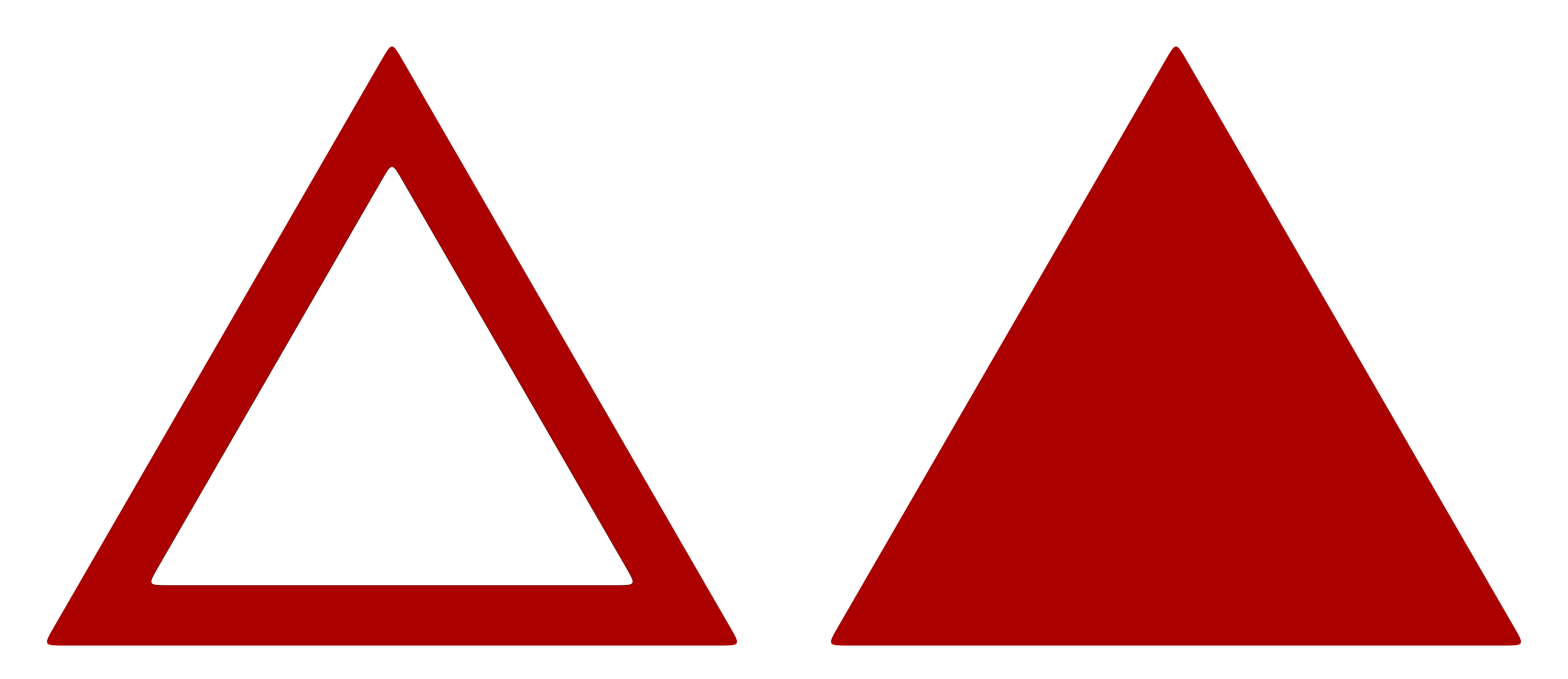 Triangle Sign Model Red Stock by wuestenbrand on DeviantArt