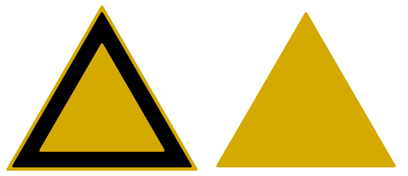 triangle sign model yellow stock by wuestenbrand on deviantart