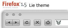 Lie theme for Firefox 1.5+