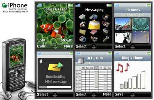 iPhone theme for SE K750 by Vivonl
