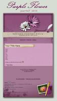 Purple Flower - journal skin